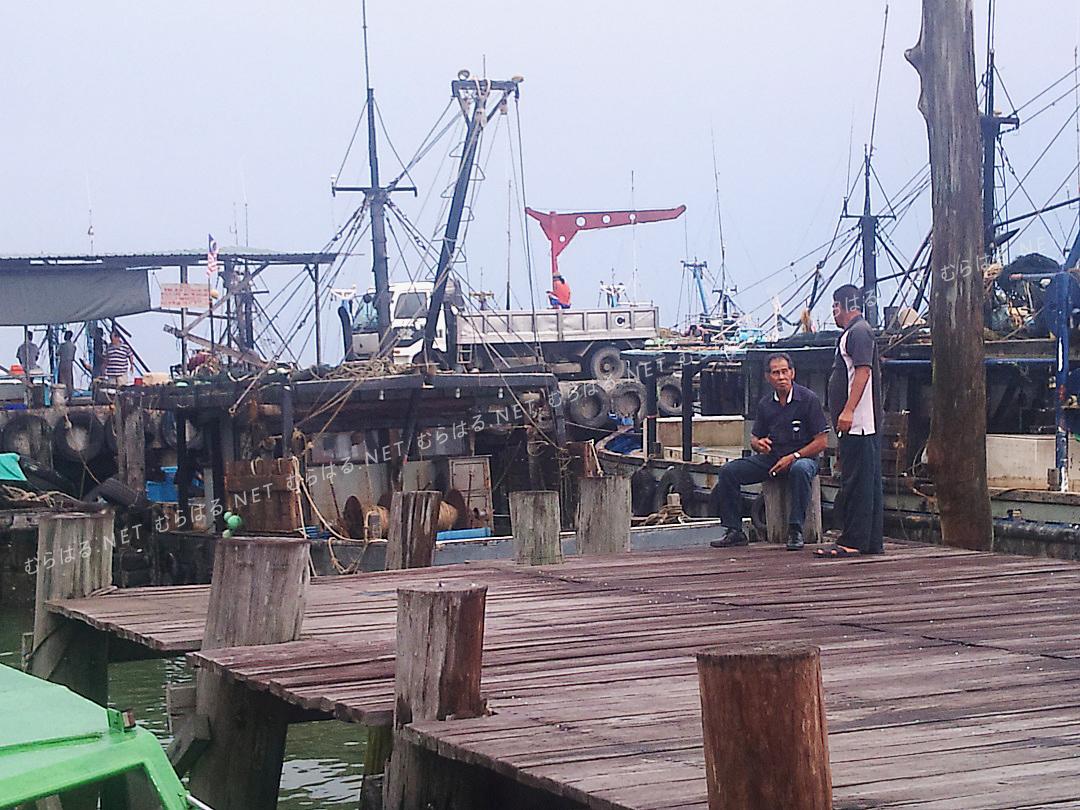サンダカンのボート乗り場