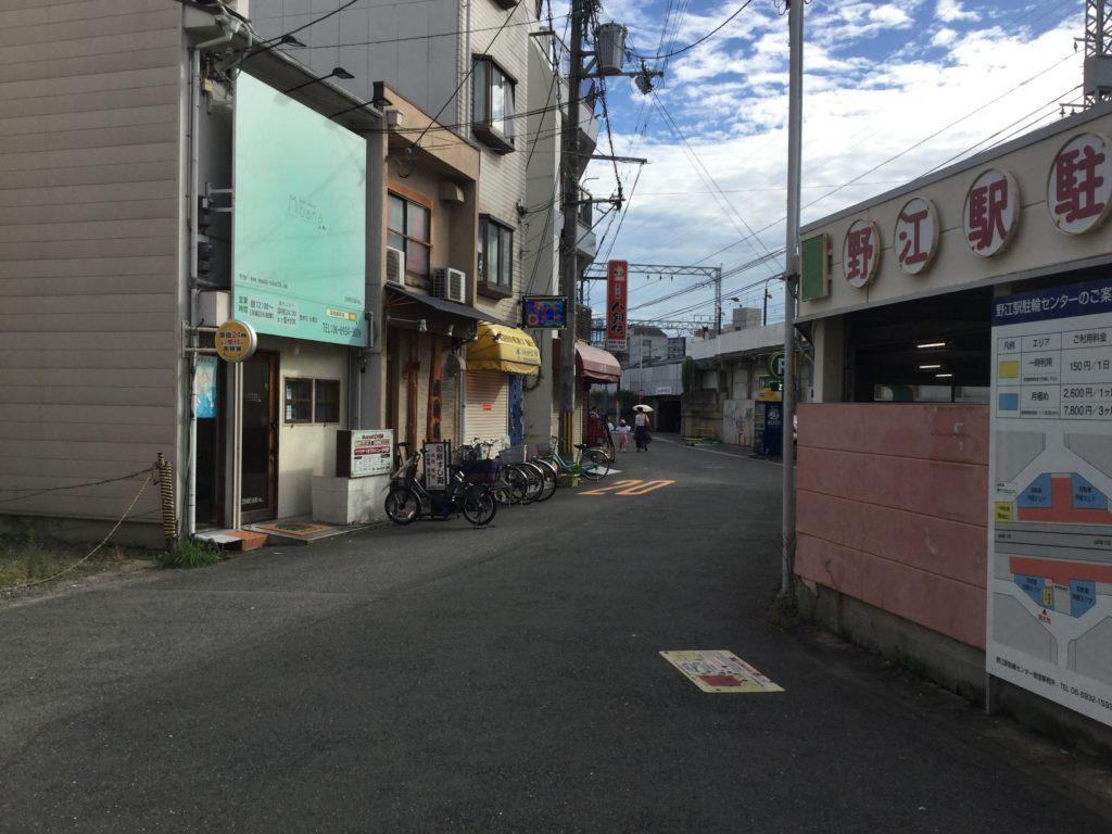野江駅から駅前飯店まで歩く2
