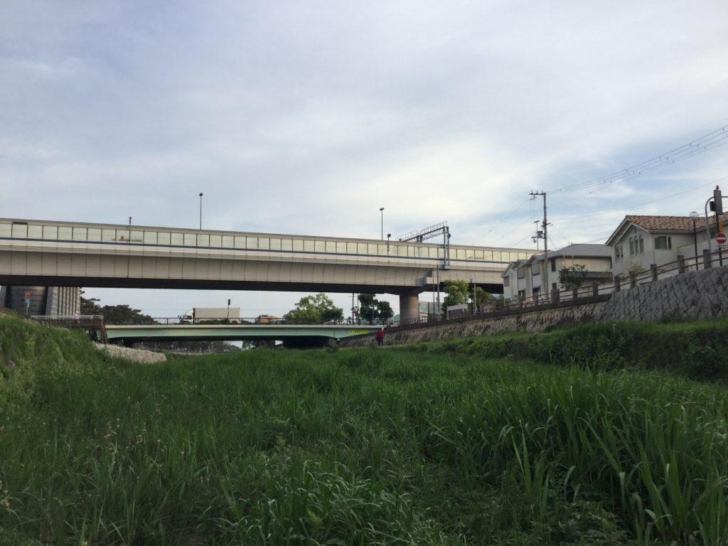 芦屋川の景色