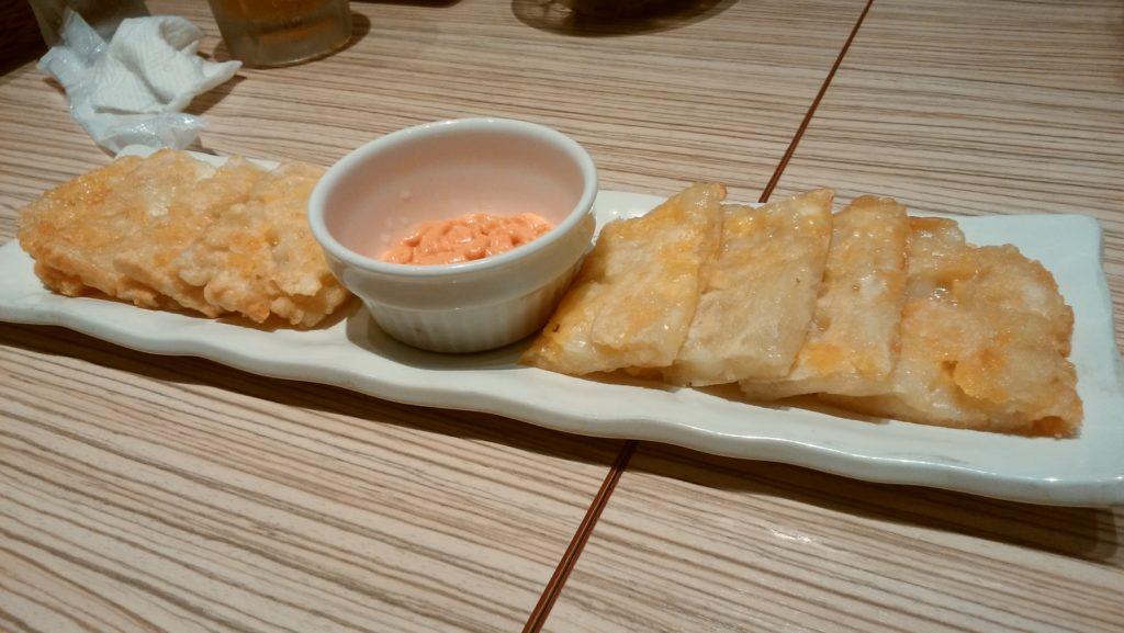 東京純豆腐大阪マルビル店のチーズチヂミ